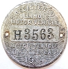 1914 ILLINOIS old Motor Vehicle/Motor Bicycle Dashboard Disc # H3563