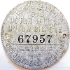 1916 Illinois Motor Vehicle/Motor Bicycle Dashboard Disc # 67957
