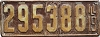 1919 ILLINOIS old license plate # 295388