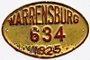 1925 WARRENSBURG Missouri license plate # 634