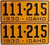 1930 Idaho pair # 111-215