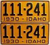 1930 Idaho pair # 111-241