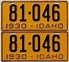 1930 Idaho pair # 81-046