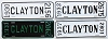 1930 to 1937 City of Clayton, Missouri license plates