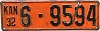 1932 Kansas license plate # 9594, Reno County