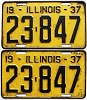 1937 Illinois pair # 23-847, shorties!