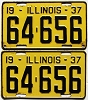 1937 Illinois pair #64-656