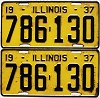 1937 Illinois pair #786-130