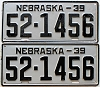 1939 Nebraska pair # 1456, Kearney County