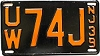 1939 NEW JERSEY license plate # UW74J