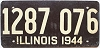 1944 ILLINOIS old license plate # 1287 076