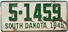 1945 South Dakota # 1459, Bon Homme County