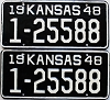 1948 Kansas pair # 25588, Wyandotte County
