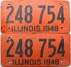1948 Illinois pair # 248-754
