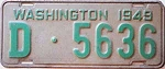 1949 Washington Dealer # D-5636