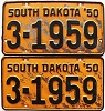 1950 South Dakota pair # 1959, Beadle County