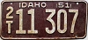 1951 Idaho # 11 307, Twin Falls County