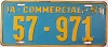 1951 IOWA Commercial license plate # 57-971, Linn County