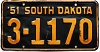 1951 South Dakota # 1170, Beadle County