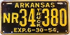 1954 Arkansas Natural Resources Truck # 34 380