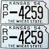 1954 Kansas pair # 4259, Republic County