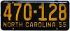 1955 North Carolina # 470-128