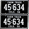 1956 Colorado Farm Truck pair # 634, Kiowa County