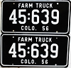 1956 Colorado Farm Truck pair # 639, Kiowa County