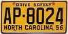 1956 North Carolina # AP-8024