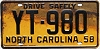 1958 North Carolina # YT-980