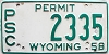 1958 Wyoming Public Service Commission PSC # 2335