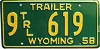 1958 Wyoming Trailer # 619, Big Horn County