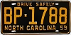 1959 North Carolina # BP-1788