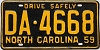1959 North Carolina # DA-4668