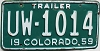 1959 Colorado Trailer # 1014, Morgan County