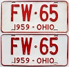 1959 Ohio pair # FW-65