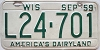 1959 Wisconsin license plate # L24-701