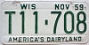 1959 Wisconsin license plate # T11-708