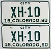 1960 Colorado City pair # XH-10, Chaffee County