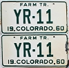 1960 Colorado Farm Tractor pair # YR-11, Cheyenne County
