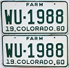 1960 Colorado Farm Truck pair #WU-1988, Kit Carson County