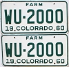 1960 Colorado Farm Truck pair #WU-2000, Kit Carson County