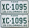 1960 Colorado Farm Truck pair #XC-1095, Bent County