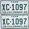 1960 Colorado Farm Truck pair #XC-1097, Bent County