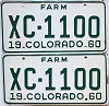 1960 Colorado Farm Truck pair #XC-1100, Bent County