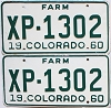 1960 Colorado Farm Truck pair #XP-1302, Lincoln County