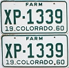1960 Colorado Farm Truck pair #XP-1339, Lincoln County