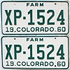 1960 Colorado Farm Truck pair #XP-1524, Lincoln County