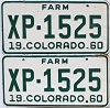 1960 Colorado Farm Truck pair #XP-1525, Lincoln County