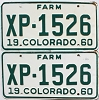 1960 Colorado Farm Truck pair # XP-1526, Lincoln County
